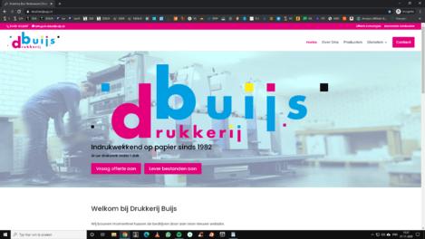 Drukkerij Buijs nieuwe website gemaakt door Logisch Webdesign